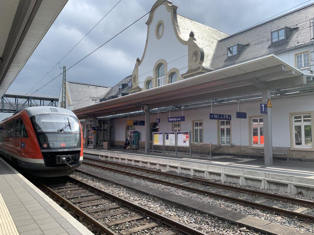 La gare de Marbourg